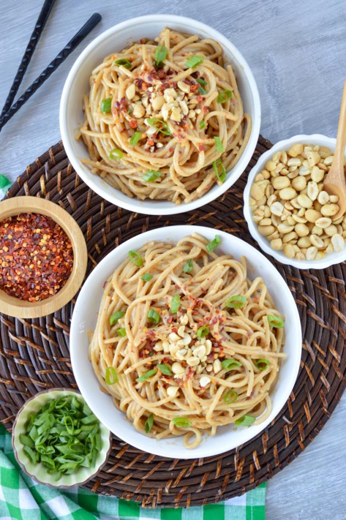 Gluten-free Drunken Peanut Noodles   Plaid and Paleo